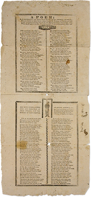 A Poem of the Distressing and Afflictive Death of the Rev. Josiah M. Broadside, JH, Death, Murder, Verse.
