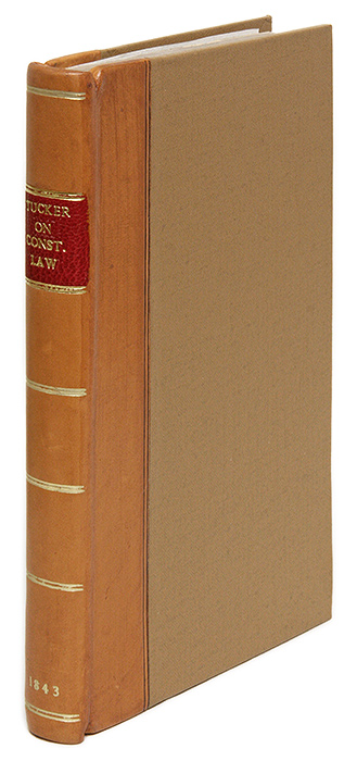 Lectures on the Constitutional Law, for the Use of the Law Class. Henry St. George Tucker.