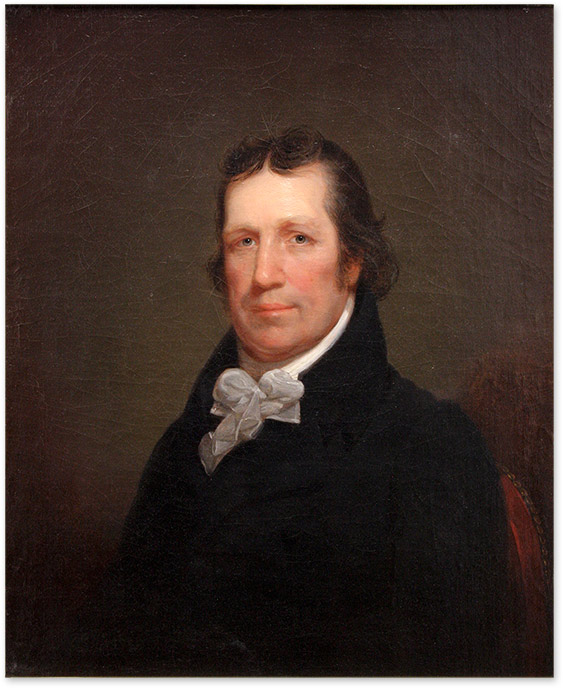 Portrait of William Tilghman (1756-1827). Oil on Canvas, framed. John Neagle, W. Tilghman, After Rembrandt Peale.