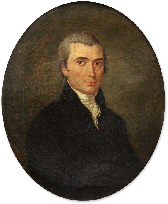 Portrait of John Meredith Read, Oil on Canvas, framed. 19th Century American School, John Meredith Read.