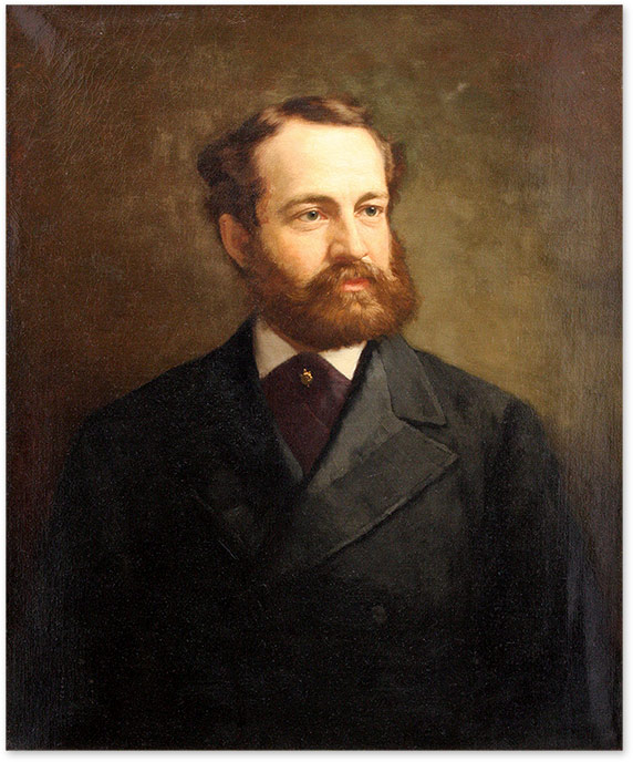 Portrait of Lewis Waln Smith, Oil on Canvas, framed. 19th Century American School, Lewis Waln Smith.