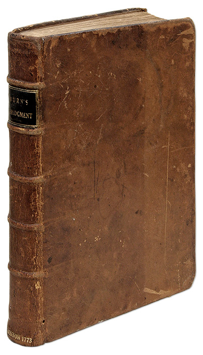An Abridgment [Abridgement] of Burn's Justice of the Peace and Parish. Richard Burn, Joseph Greenleaf, Manasseh Smith.