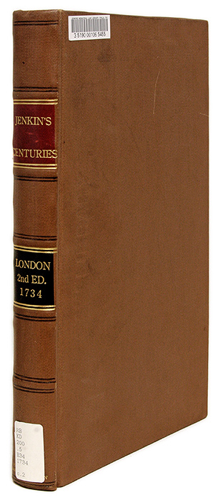 Eight Centuries of Reports: Or, Eight Hundred Cases Solemnly Adjudged. David Jenkins.