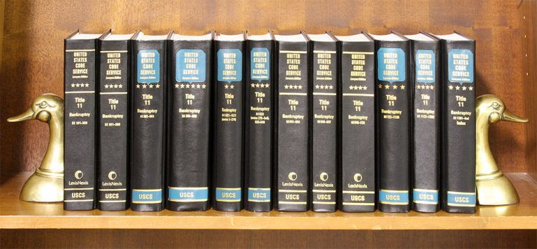 USCS Bankruptcy Set: Title 11. 12 volumes current through 2018 supps. LexisNexis. United States Code Service.