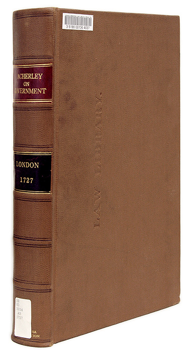 The Britannic Constitution [Bound with] Reasons for Uniformity in the. Roger Acherley.