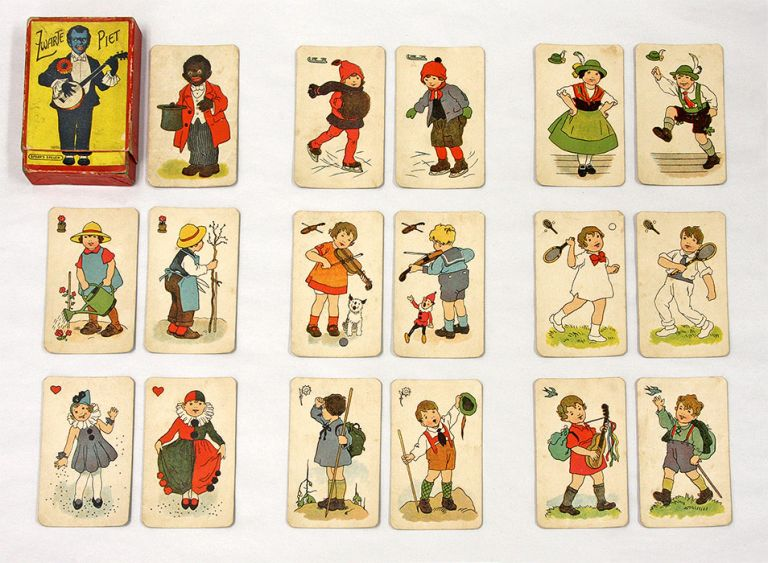 Zwarte Piet, Furth, c. 1925, 31 Color Cards. Playing Cards, Children's Games.