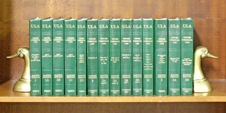 Uniform Commercial Code. (Vols. 1-3B, Uniform Laws Annotated). 14 vols. American Law Institute. Natl Conf Comm State Law.