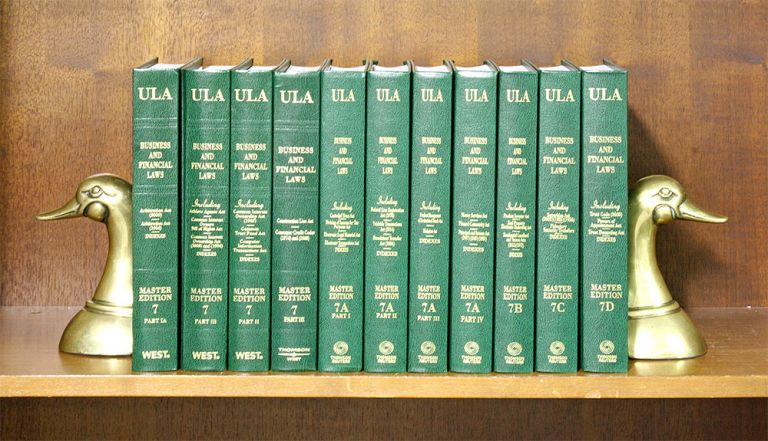 Business and Financial Laws (Vols 7 Pts IA to 7D, in 11 books). National Conference Commission State Uniform Laws.