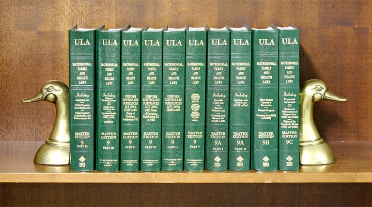 Matrimonial, Family and Health Laws (Vols 9 Pt IA to 9C, 11 books). National Conference Commission State Uniform Laws.