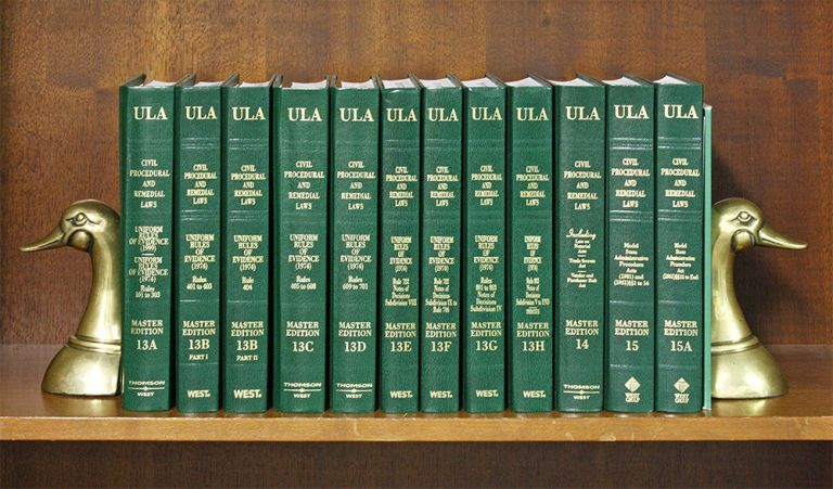 Civil Procedure and Remedial Laws Vols. 13-15A, Uniform Laws Annotated. National Conference Commission State Uniform Laws.