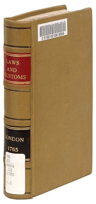 The Laws and Customs, Rights, Liberties, And Privileges, Of the. London.