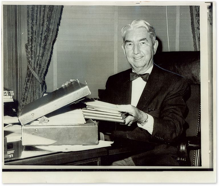 """6"""" x 9-1/2"""" Black-and-White Press Photograph of Justice Clark. Tom C. Clark."""