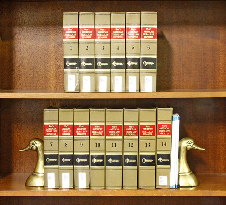 West's American Tribal Law Reporter. Vols 1-14 (2009-2018). Thomson Reuters.