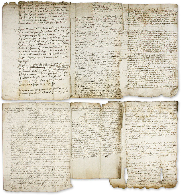 Legal Documents Relating to Six Trials, Great Britain, 1631-1632. Manuscript Archive, Trials, Great Britain.