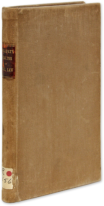 An Analysis of the Roman Civil Law, In Which a Comparison is. Samuel Hallifax.