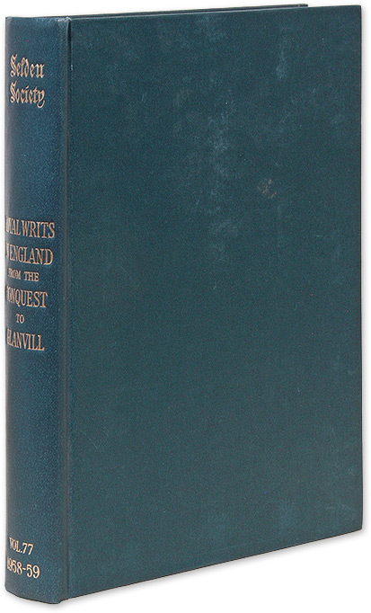 Royal Writs in England from the Conquest to Glanvill, Studies in. R. C. Van Caenegem, Selden Society volume 7, 1958.
