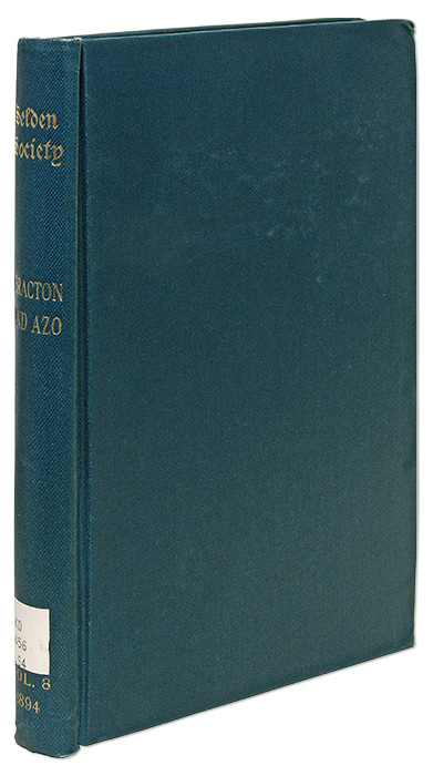Select Passages from the Works of Bracton and Azo. F. W. Maitland, Selden Society Volume 8, 1894.