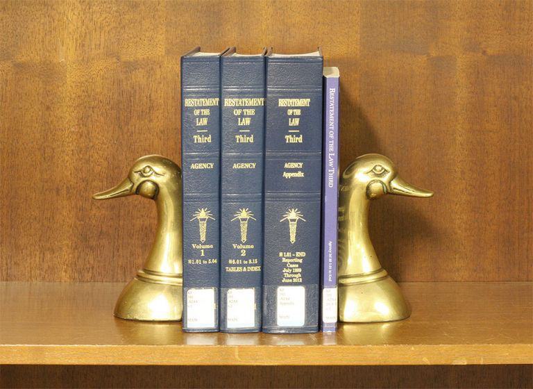 Restatement of the Law 3d. Agency. 3 Vols. with 2018 supplement. American Law Institute.