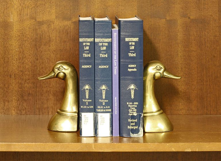 Restatement of the Law 3d. Agency. 3 Vols. with 2019 supplement. American Law Institute.