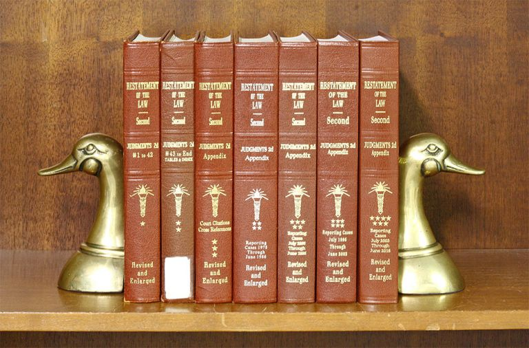Restatement of the Law 2d. Judgments & App 7 Vols Complete w/2019 supp. American Law Institute.
