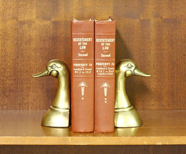 Restatement of the Law Property 2d Landlord & Tenant 2 Vols 2019 supps. American Law Institute.
