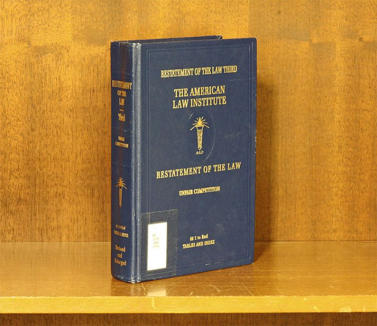 Restatement of the Law. Unfair Competition 3d. 1 Vol. with 2019 supp. American Law Institute.