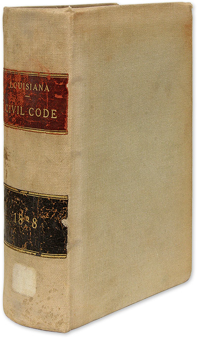 Civil Code of the State of Louisiana/Code Civil de L'Etat de la. Louisiana, Wheelock S. Upton, Needler R. Jenning.