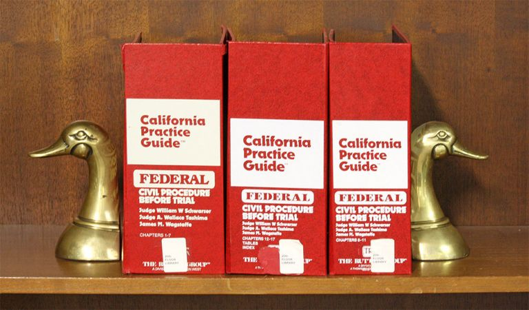Federal Civil Procedure Before Trial California Practice Guide 3 vols. Judge William W. Shwarzer, A. Wallace Tashima.