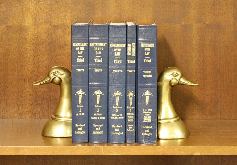 Restatement of the Law 3d Trusts 5 Vols Complete set w/2019 supplement. American Law Institute.