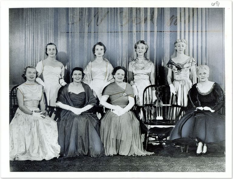 "7"" x 9-1/4"" Black-and-White Press Photograph of Wives of Supreme. United States Supreme Court."