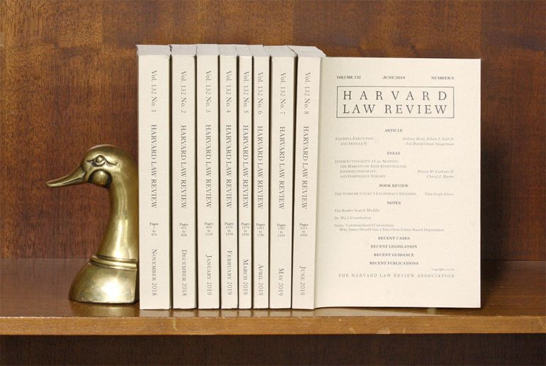 Harvard Law Review. Vol. 132 (2018-2019) complete, in 8 parts. Harvard Law Review Association.