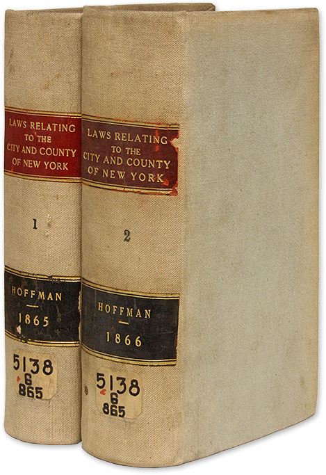 A Digest of the Charters, Statutes and Ordinances of, and Relating. Murray Hoffman.