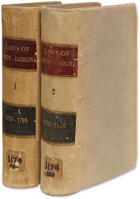 Laws of the State of North-Carolina, Including the Titles of such. Henry Potter, J. L. Taylor, Bart Yancey.