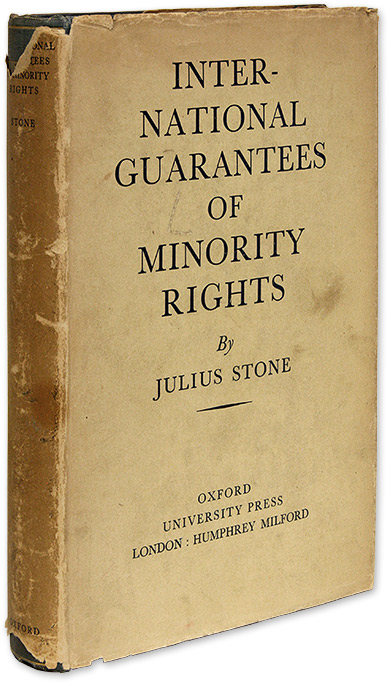 International Guarantees of Minority Rights, Procedure of the. Julius Stone.