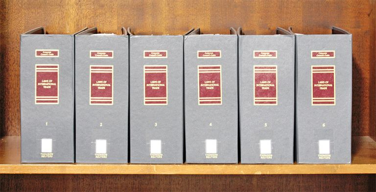 Corporate Counsel's Guide to Laws of International Trade. 6 Vols. 2019. Thomson Reuters, Business Laws Inc.