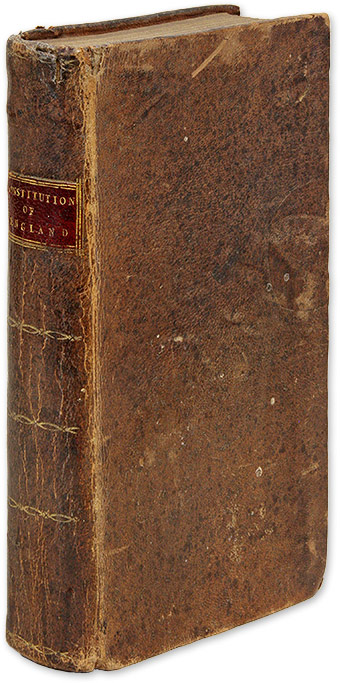 The Constitution of England; Or, An Account of the English Government. J. L. De Lolme.