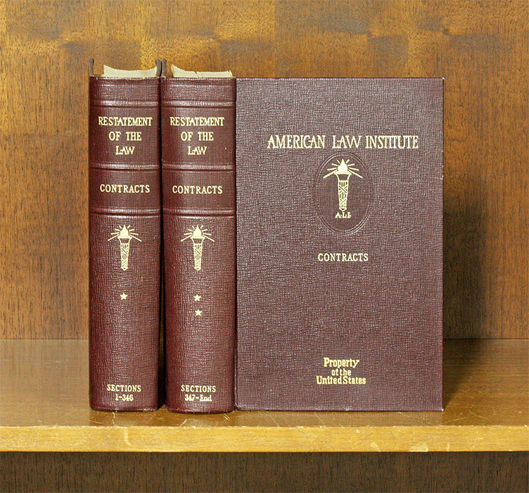 Restatement of the Law of Contracts [1st]. 2 vols. American Law Institute.