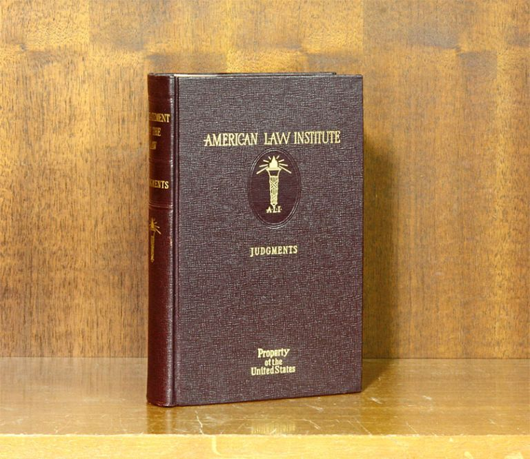 Restatement of the Law of Judgments [1st]. 1 Volume. American Law Institute.