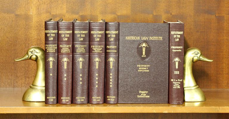 Restatement of the Law of Property [1st]. 6 vols. w/2009 pocket part. American Law Institute.
