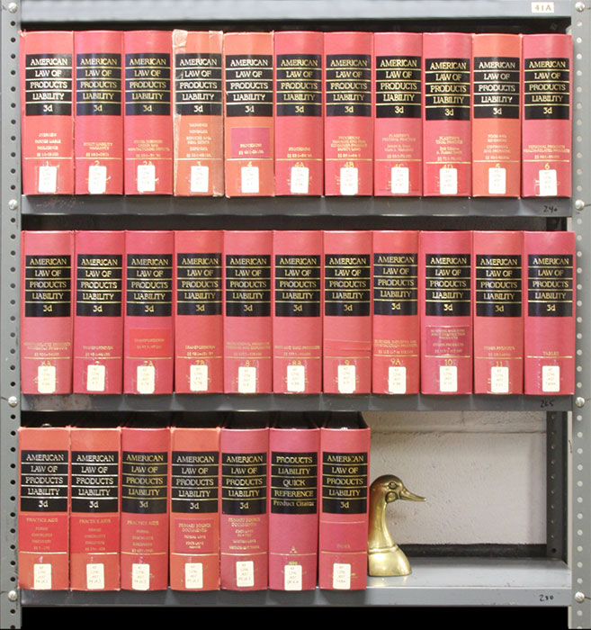 American Law of Products Liability 3d. 29 Vols. 10 linear feet. Thomson Reuters.