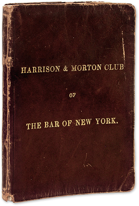 Harrison & Morton Club of New York, New York, 1888. Manuscript, Harrison, Morton Club of New York.