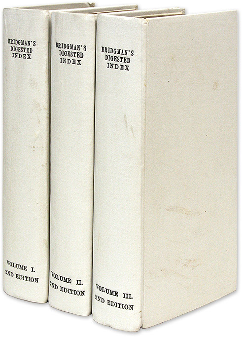 An Analytical Digested Index of the Reported Cases in the Several. Richard Whalley Bridgeman.