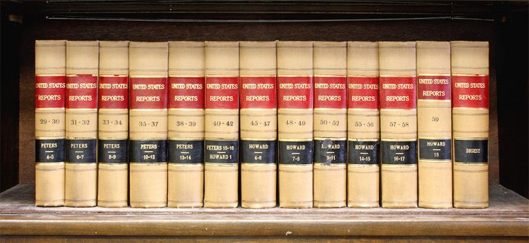 United States Supreme Court Reports, Curtis Edition. 13 vols. 2 feet. United States, Benjamin R. Reports Curtis.