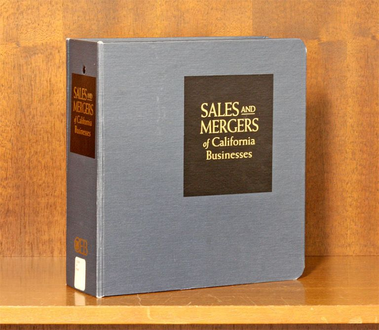 Sales and Mergers of California Businesses. 1 Vol. w/Sept. 2018 Update. Continuing Education of the Bar California. CEB.