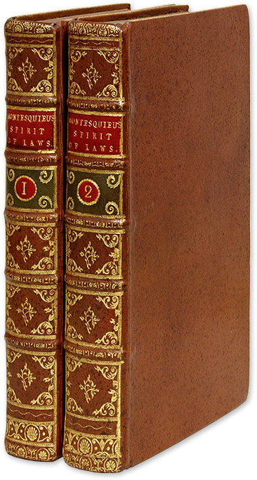 The Spirit of Laws, Translated from the French of M de Secondat. Charles-Louis de Secondat Montesquieu, Baron de.