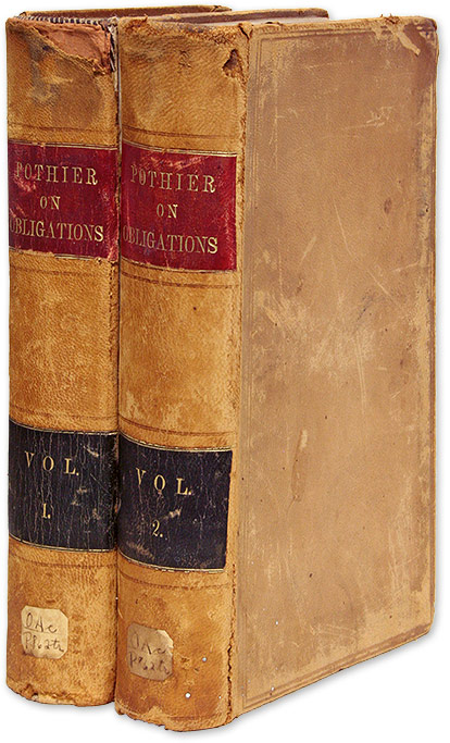 A Treatise on Obligations, Considered in a Moral and Legal View 2 vols. Robert Joseph Pothier, William David Evans.
