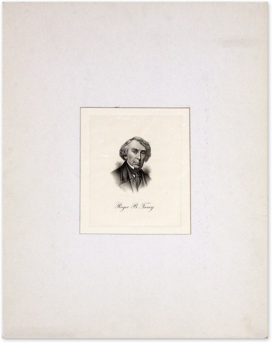 Engraved Image of Taney, Mounted and Matted. Roger B. Taney.