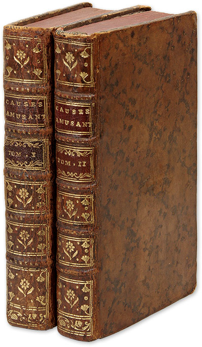 Causes Amusantes Et Connues. 2 vols. 1769-1770. Robert Estienne.