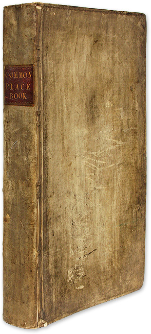 Commonplace Book by a Student of History, Law and Government, c 1770. Manuscript, Great Britain.