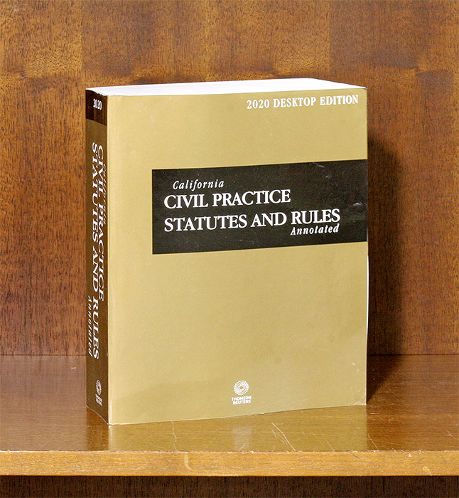 California Civil Practice Statutes and Rules Annotated, 2020 edition. Thomson Reuters.